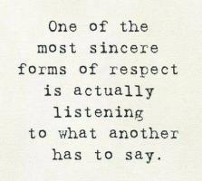listening:respect