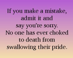 owning mistakes